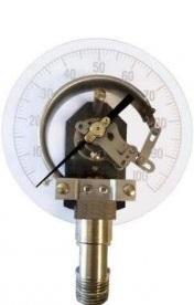 تصویر یک گیج فشار بوردن تیوب با نمای داخلی آن