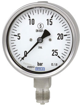 گیج فشار Wika مدل 233.30 روغنی