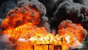 انفجار کارخانه صنعتی