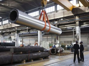 تصویر یک کارخانه ی تولید فولاد